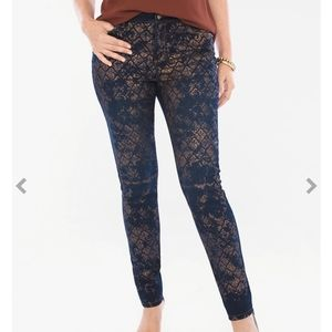 Chico's The Platinum Jeggings  Gold Lace 0, or S/4